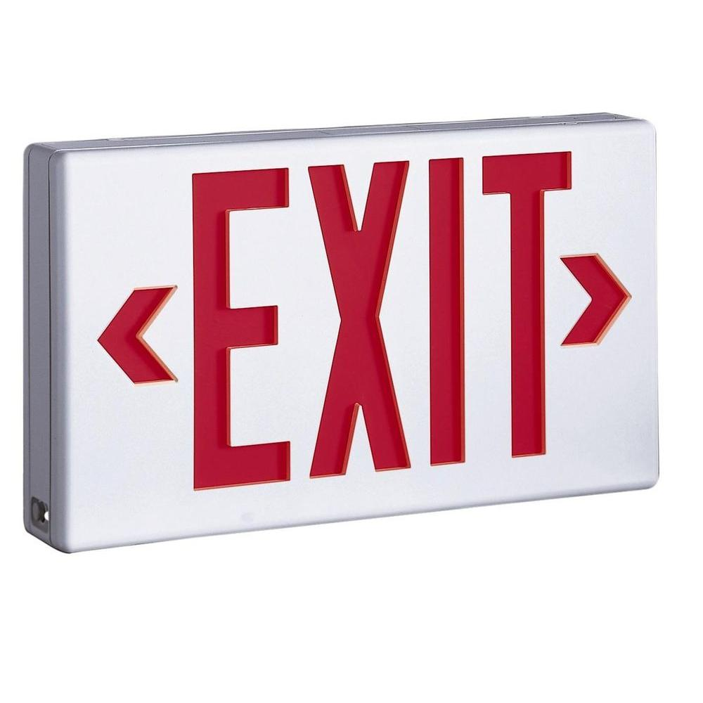 Sure-Lites LPX 1.09 Watt White Integrated LED Exit Sign, Self-Powered