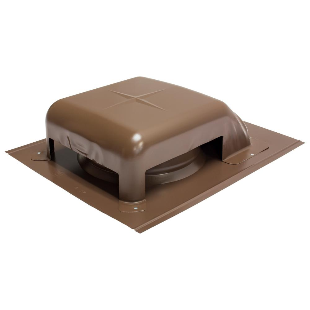 Air Vent 40 Sq In Nfa Galvanized Slant Top Roof Louver Static Vent In Brown Sold In Carton Of 9 Only Rvg40br The Home Depot