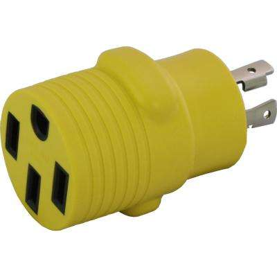 Locking Adapter NEMA L14-30P 30 Amp 125/250-Volt 4-prong locking plug to 50 Amp Straight Blade RV/EV/Range Connector