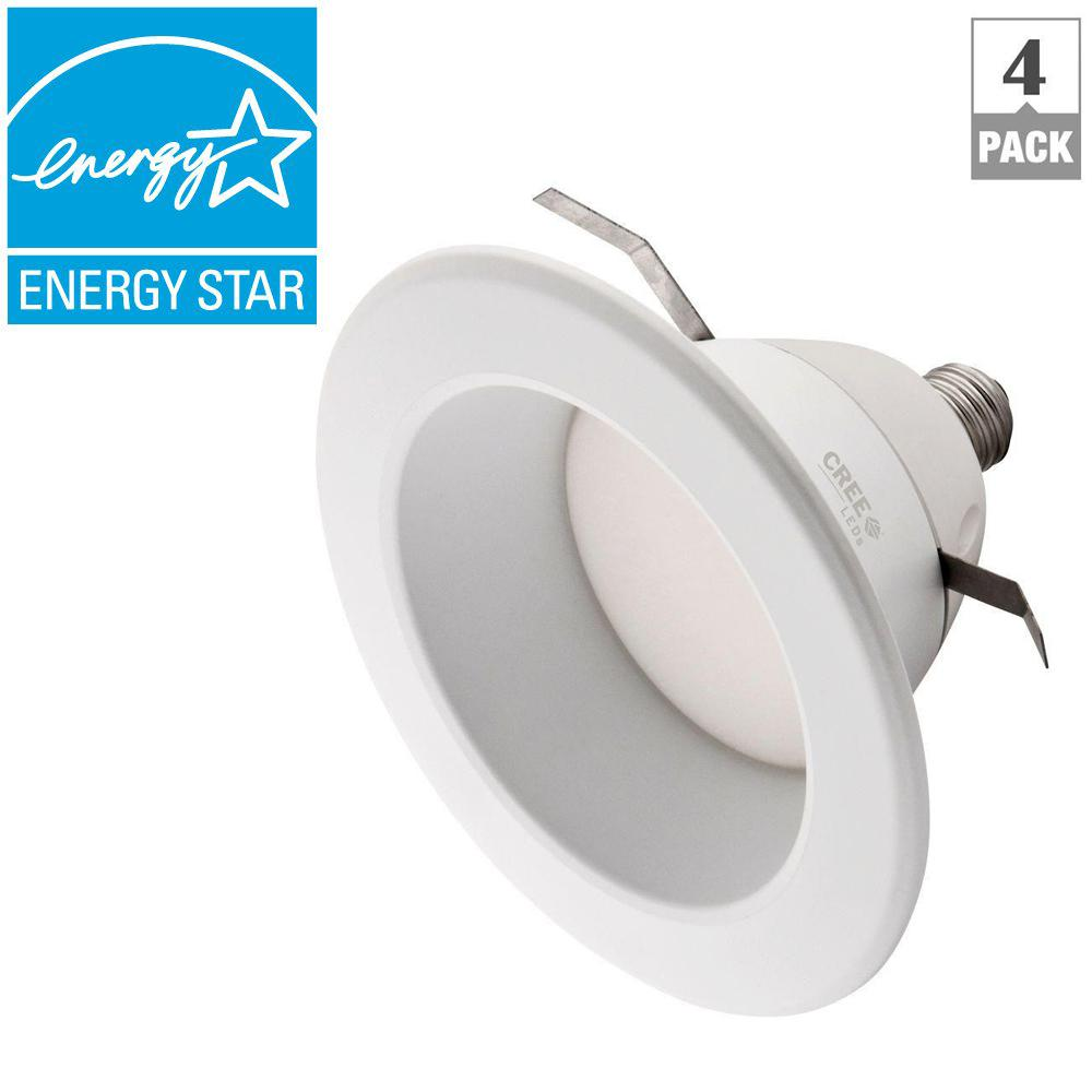 EcoSmart 65W Equivalent Soft White (2700K) 6 in. Mid-Range Dimmable LED Downlight (4-Pack)