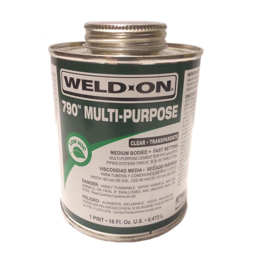 PVC 790 16 oz. Multi-Purpose Cement - Clear