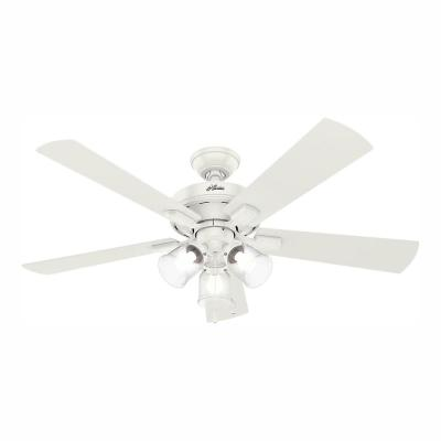 Crestfield 52 in. LED Indoor Fresh White Ceiling Fan with 3-Light Kit