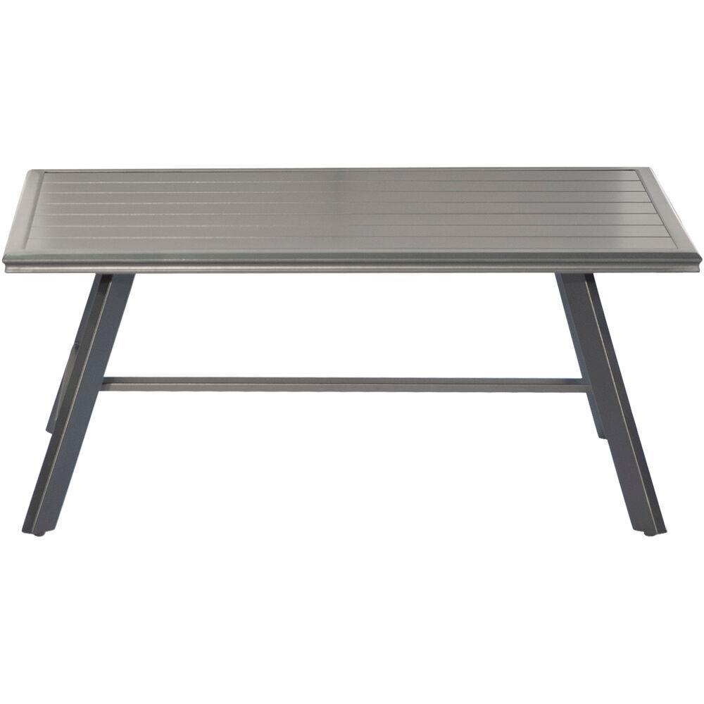 Terrific Hanover All Weather Commercial Rust Free Aluminum Slat Top Outdoor Coffee Table Ibusinesslaw Wood Chair Design Ideas Ibusinesslaworg