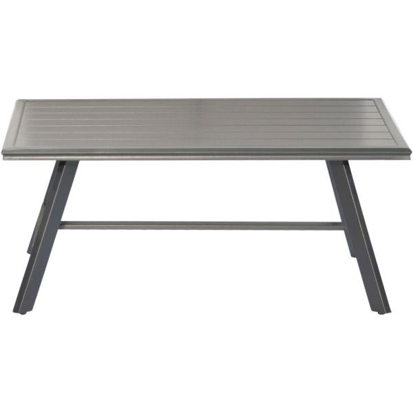 All-Weather Commercial Rust-Free Aluminum Slat-Top Outdoor Coffee Table