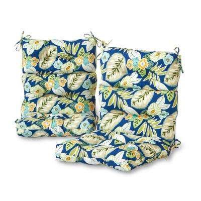 Marlow Floral Outdoor High Back Dining Chair Cushion (2-Pack)
