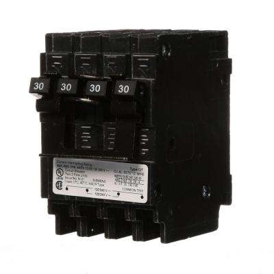 Quadplex One Outer 30 Amp Double-Pole and One Inner 30 Amp Double-Pole-Circuit Breaker