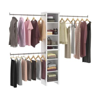 Impressions Narrow 48 in. W - 108 in. W White Wood Closet System