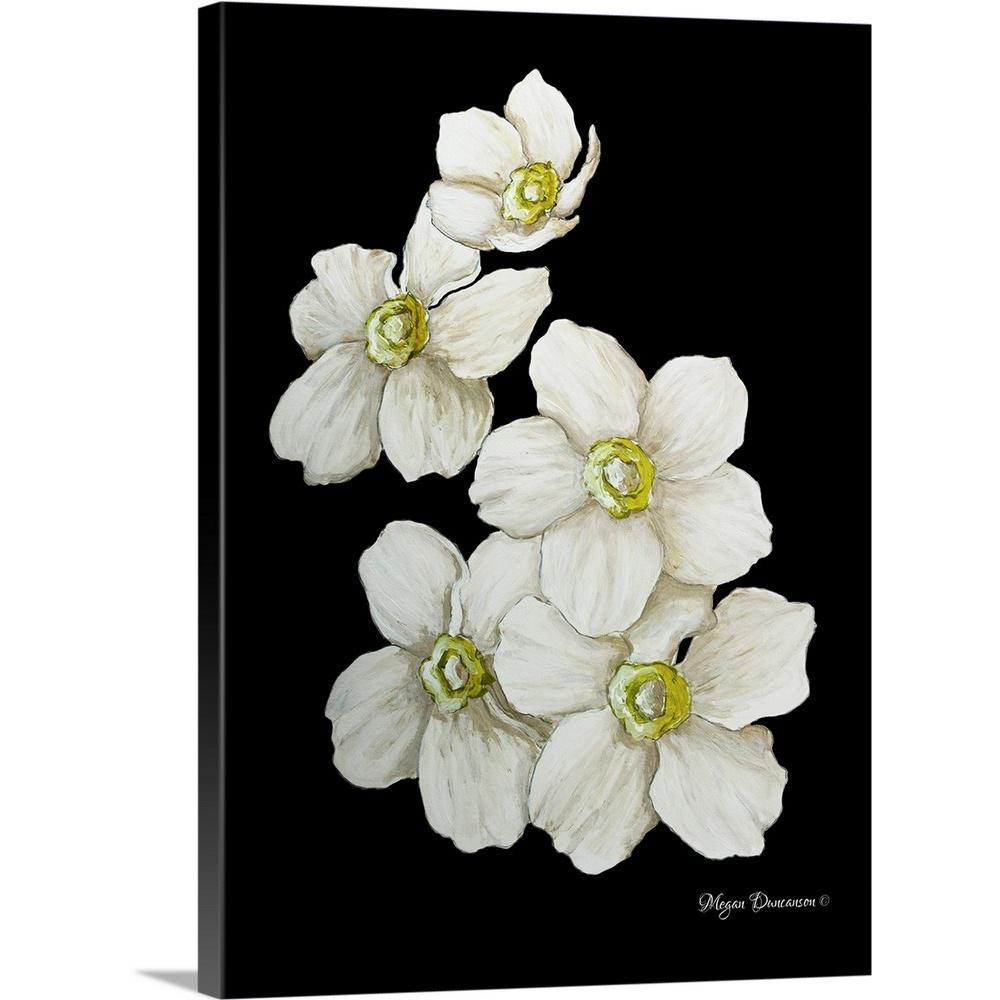 GreatBigCanvas ''White Flower Set I'' by Megan Duncanson Canvas Wall Art