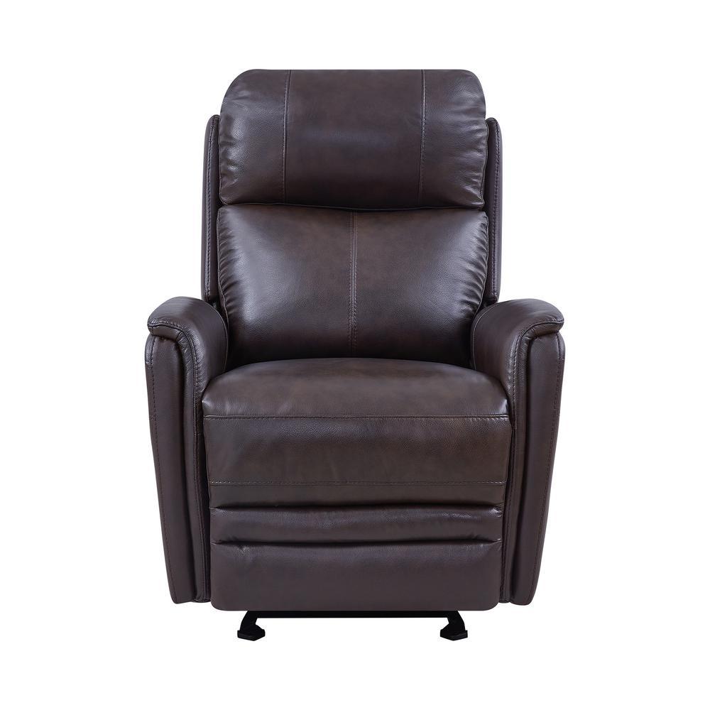 Amazing Armen Living Wolfe Dark Brown Genuine Leather Contemporary Spiritservingveterans Wood Chair Design Ideas Spiritservingveteransorg
