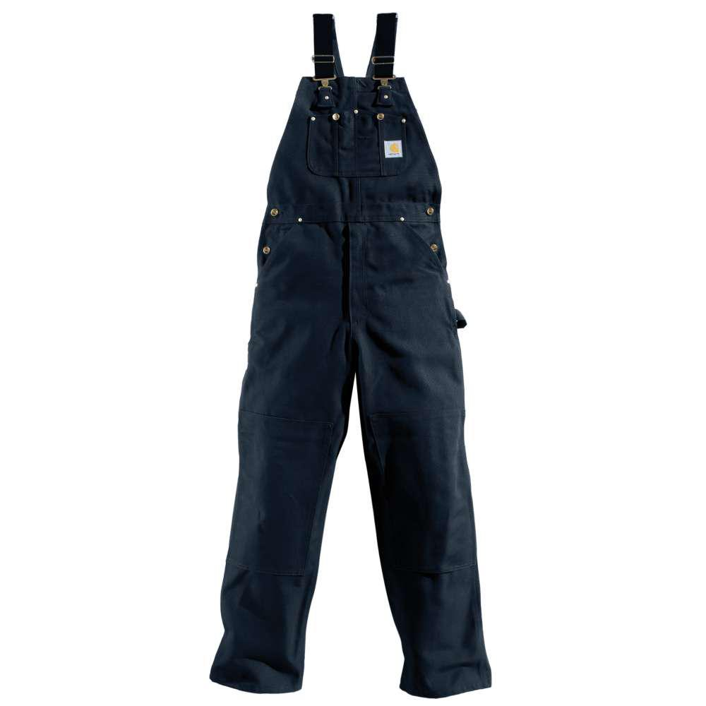 Men's 30x28 Dark Navy Cotton Bib Overalls