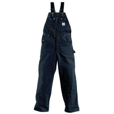 Men's 42x36 Dark Navy Cotton  Bib Overalls