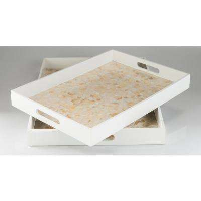 Alore White 2-Piece Decorative Tray Set