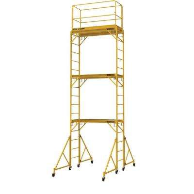 18 ft. x 2 ft. x 6 ft. Steel Jobsite Series Baker Scaffold Tower with 1000 lb. Load Capacity