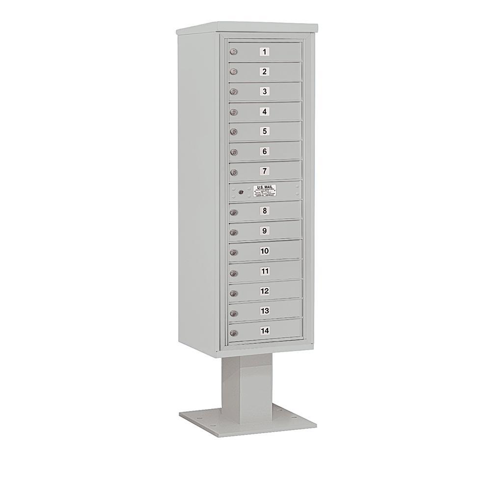 Salsbury Industries 3400 Horizontal Series 14-Compartment Pedestal Mount Mailbox
