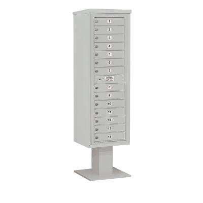 3400 Horizontal Series 14-Compartment Pedestal Mount Mailbox