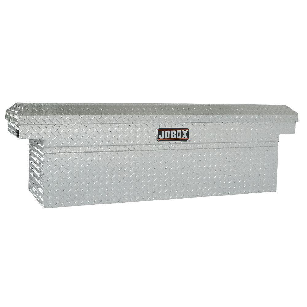 Jobox 72 in. Aluminum Single Lid Deep Full Size Crossover Tool Box in Clear Coat