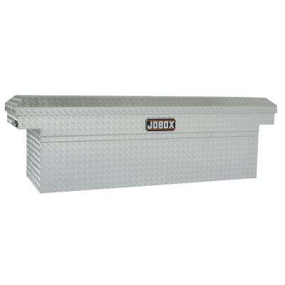 72 in. Aluminum Single Lid Deep Full Size Crossover Tool Box in Clear Coat