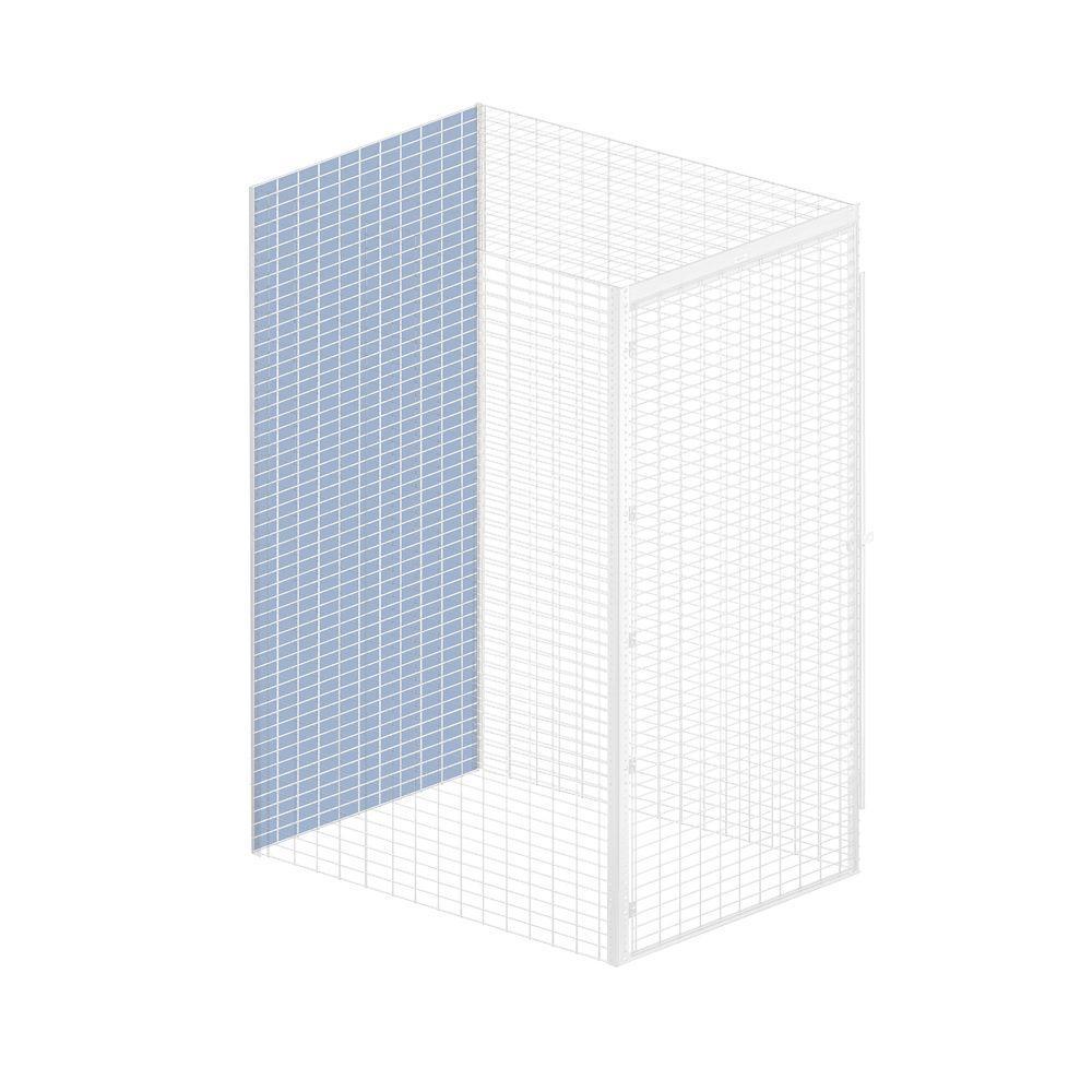 Salsbury Industries Storage Locker Option 36 in. W x 0.5 in. D x 90 in. H Back Bulk Storage Locker with Back Option in Aluminum