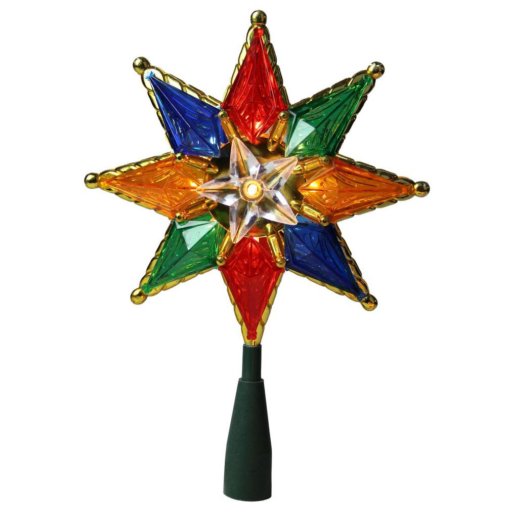 Northlight 8 in. Multi-Color Mosaic 8-Point Star Christmas ...
