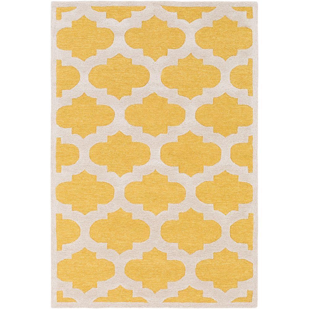 Arise Hadley Yellow 2 ft. x 3 ft. Indoor Accent Rug