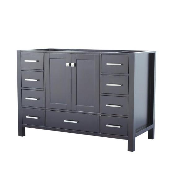 Cambridge 48 in. W Vanity Cabinet Only in Espresso