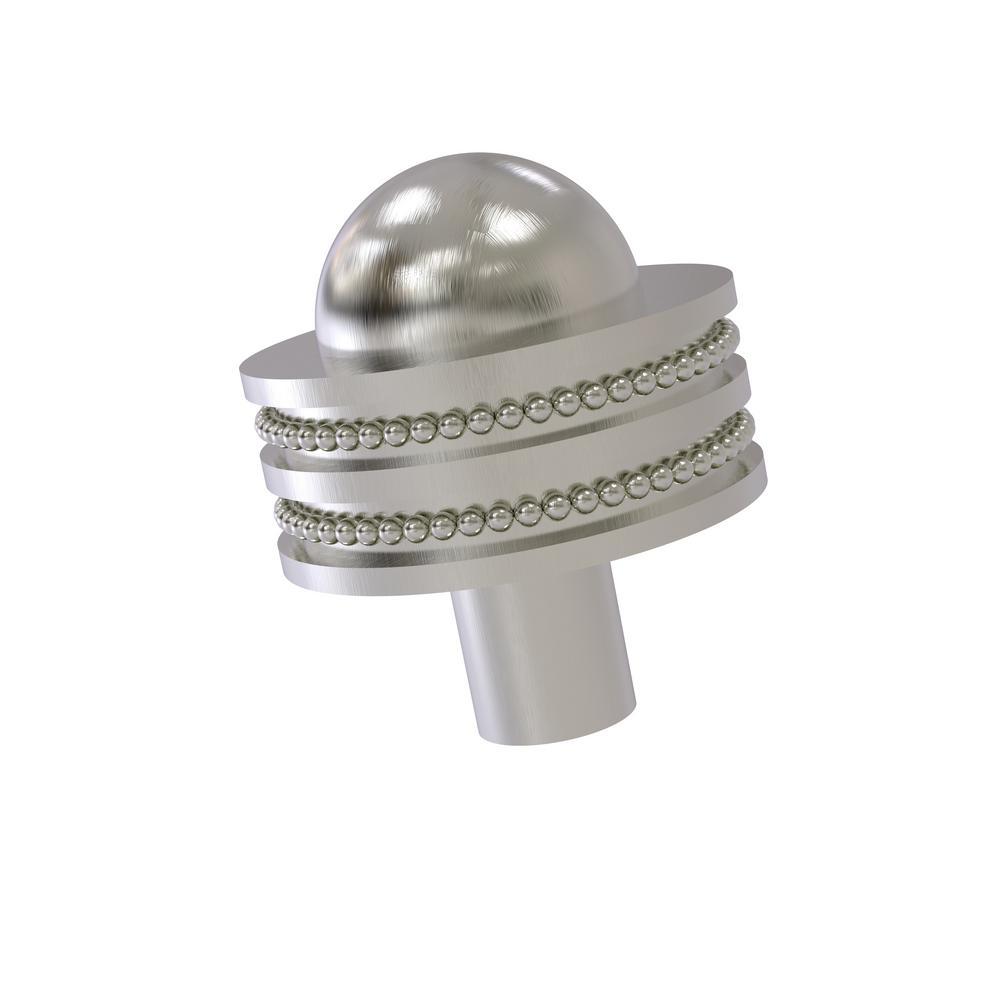1-1/2 in. Cabinet Knob in Satin Nickel
