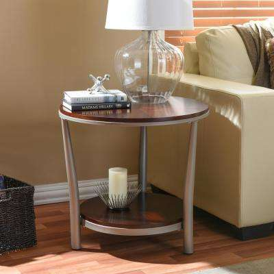 Halo Vintage Industrial Medium Brown Wood End Table