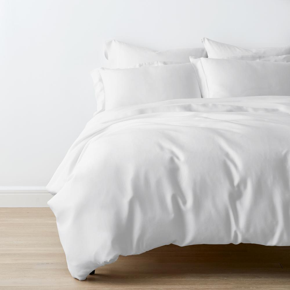 Legends Hotel White TENCEL Lyocell Sateen Queen Duvet Cover