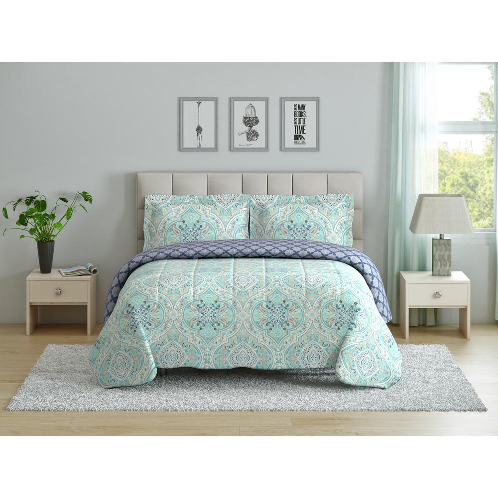 Peach & Oak Hannah Ogee Full/Queen Comforter Set CS11377FQHNOG