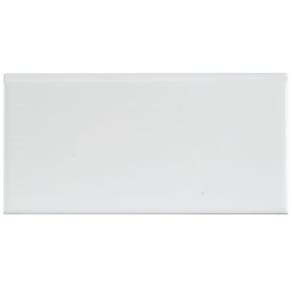 White subway tile bullnose