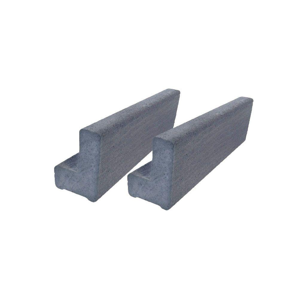 Vantage 6 ft. Cape Cod Gray Solid Composite Universal Base Rail