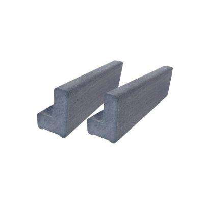 Vantage 6 ft. Cape Cod Gray Solid Composite Universal Base Rail or Hand Rail (2-Pack)