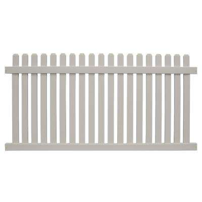 Provincetown 4 ft. H x 8 ft. W Tan Vinyl Picket Fence Panel Kit