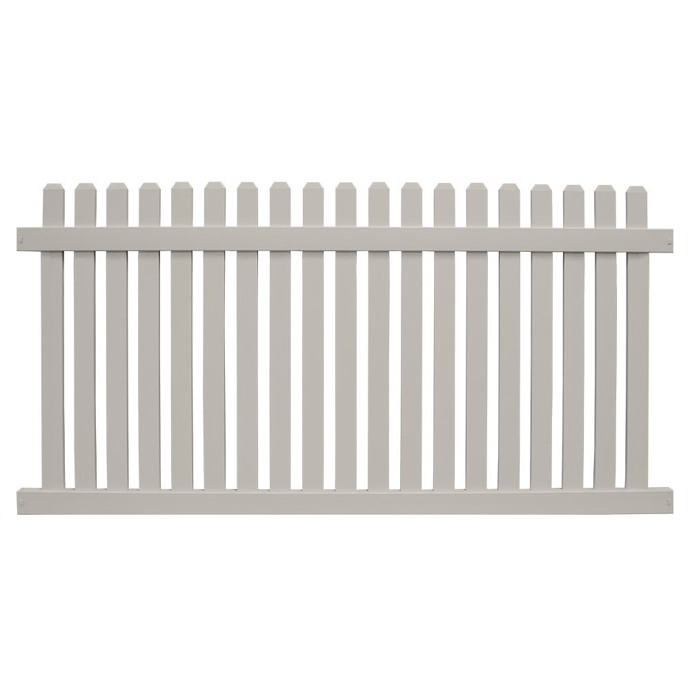 Provincetown 5 ft. H x 8 ft. W Tan Vinyl Picket