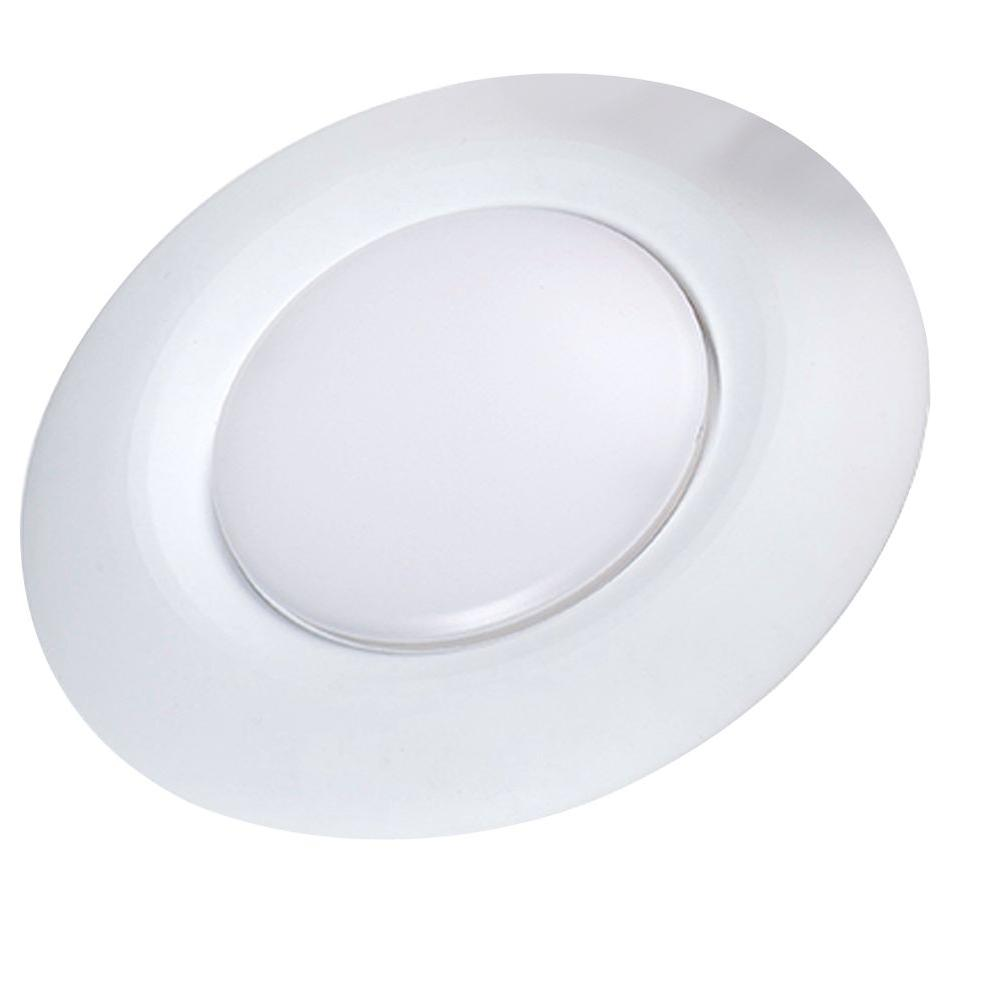 null 6 in. Soft White Recessed Can Lighting LED Disk Light