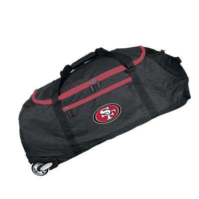 NFL San Francisco 49ers 36 in. Checked-In Rolling Duffel in Black