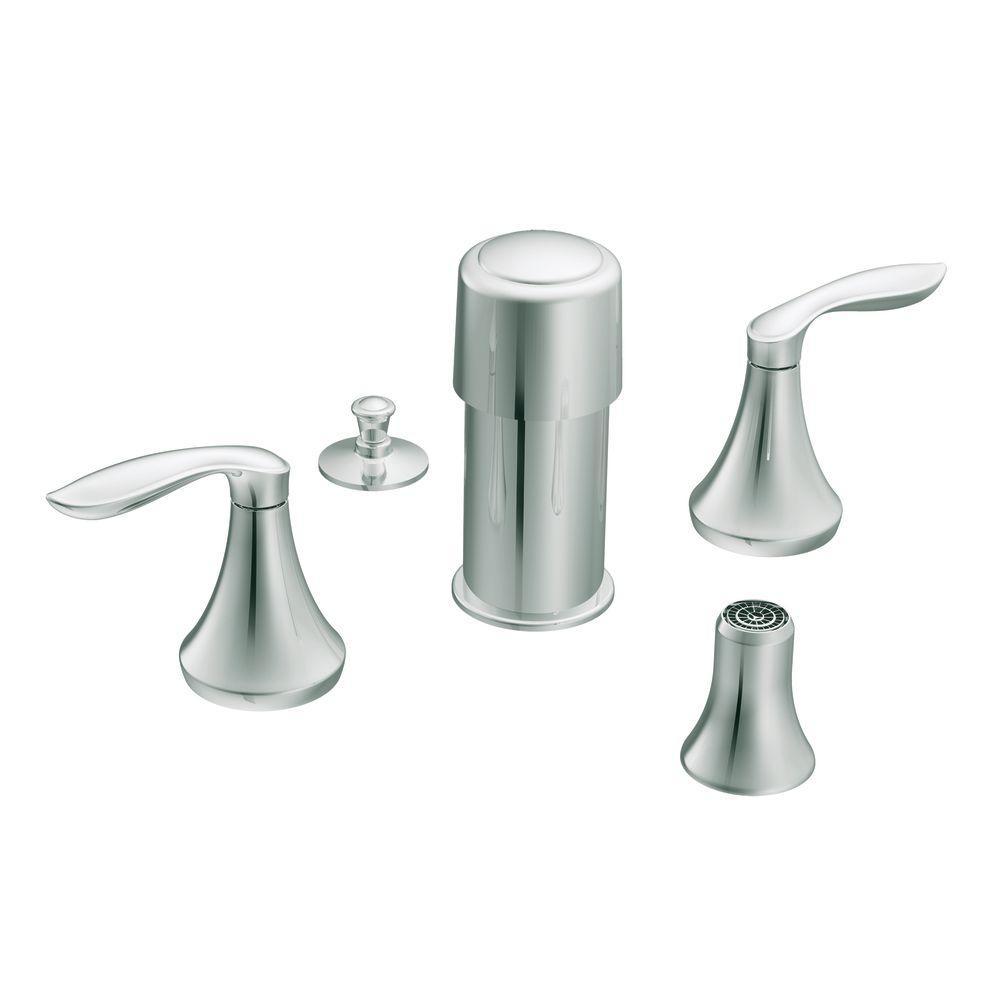 Moen Eva 2 Handle Deck Mount Roman Tub Faucet Trim Kit In