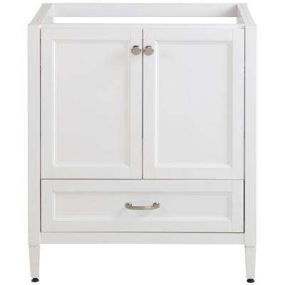 Claxby 30 in. W x 21.61 in. D x 34.41 in. H Bath Vanity Cabinet Only in White