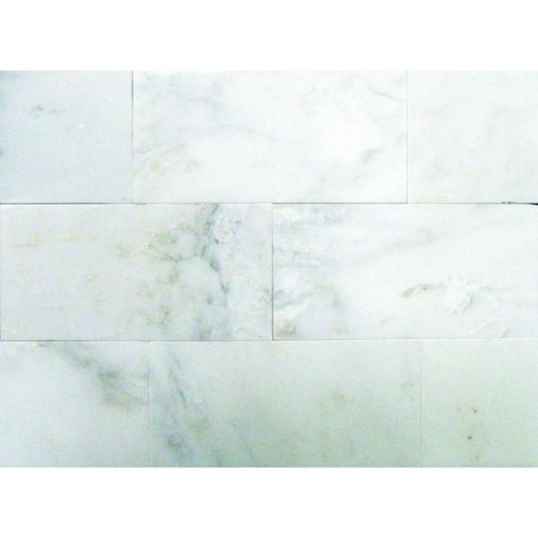 Greecian White 6 in. x 12 in. Polished Marble Floor and Wall Tile (5 sq. ft. / case)