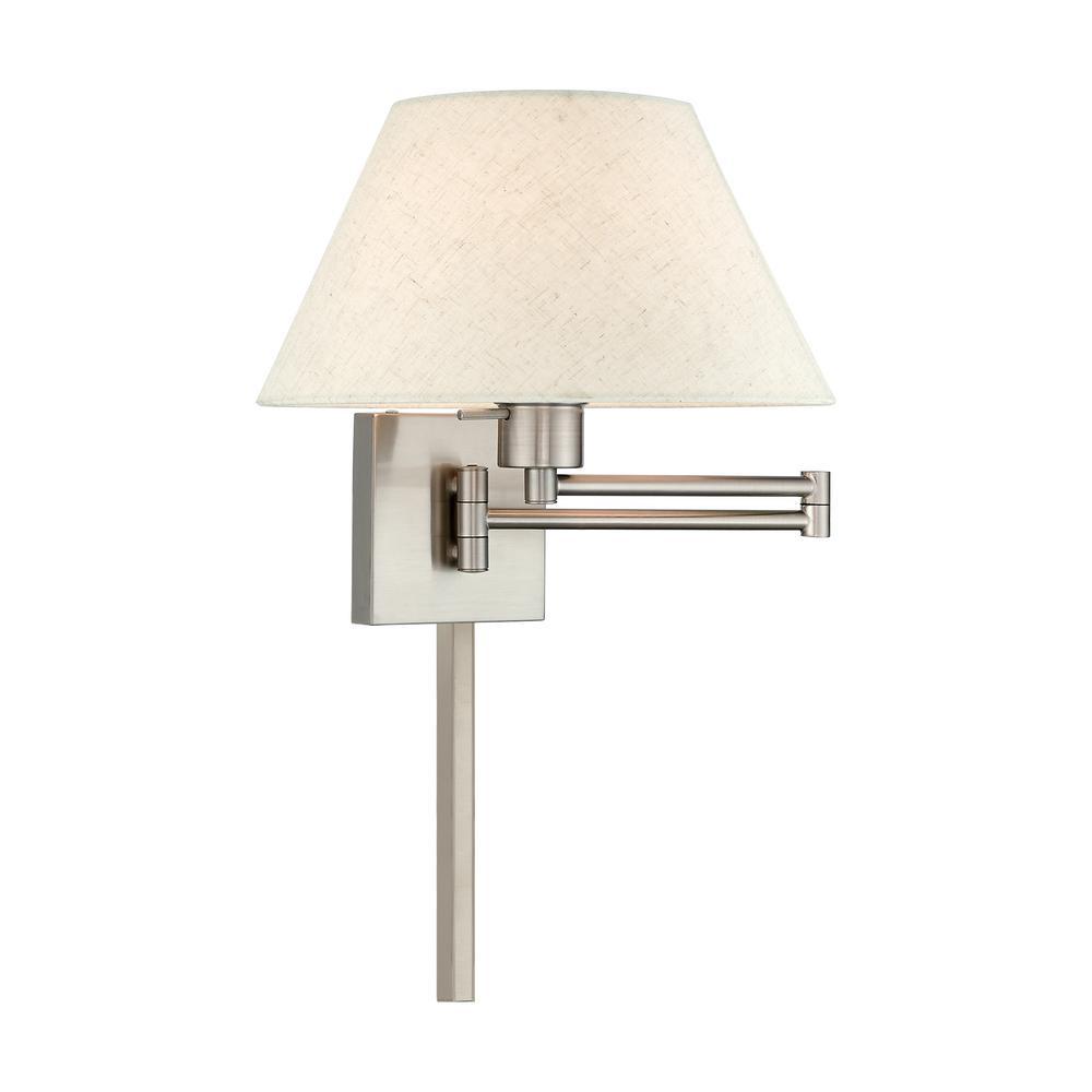 1-Light Brushed Nickel Swing Arm Light