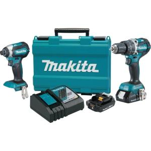 Makita 18-Volt LXT Lithium-Ion Brushless Cordless Hammer Drill and Impact Driver Combo Kit (2-Tool) w/ (2) 2Ah... by Makita