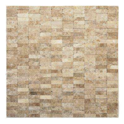 Post Modern Degas 12 in. x 12 in. x 6.35 mm Marble Mesh-Mounted Mosaic Wall Tile (10 sq. ft. / case)