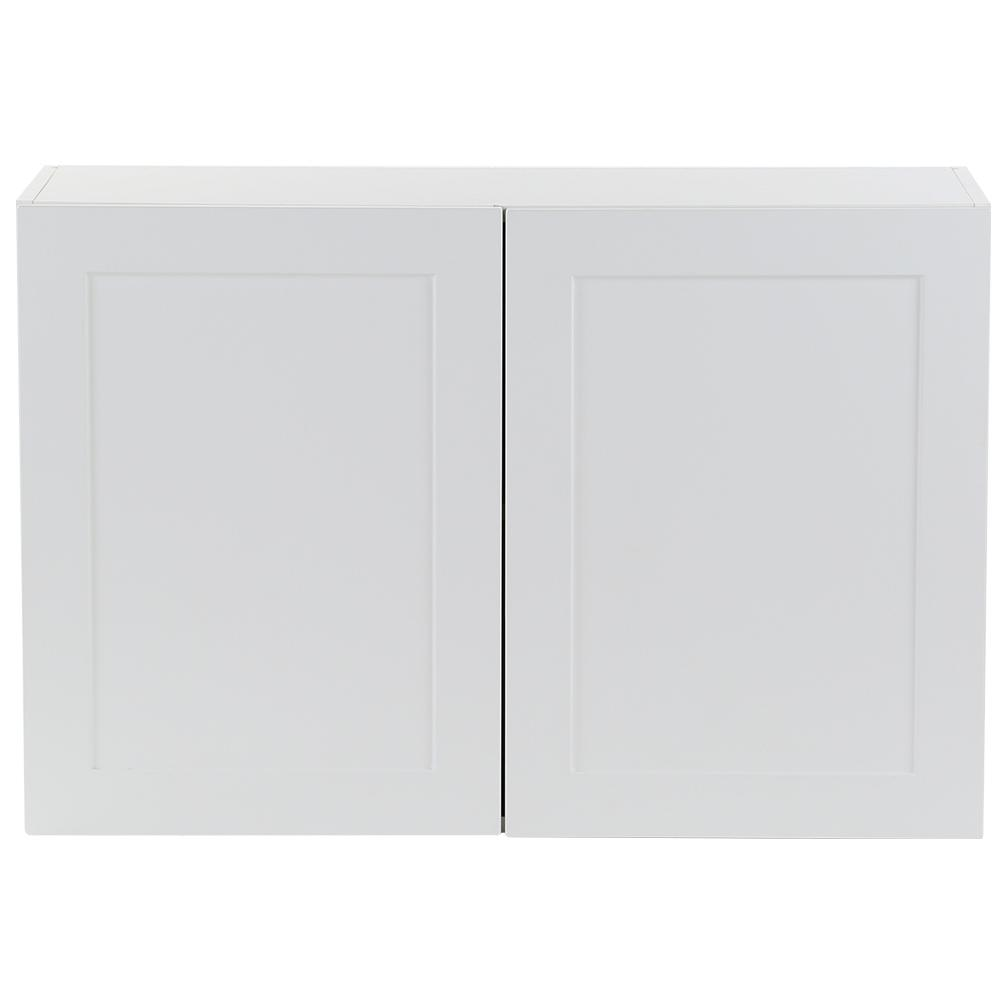 Hampton Bay Cambridge Embled 36x24x12 5 In Wall Cabinet White