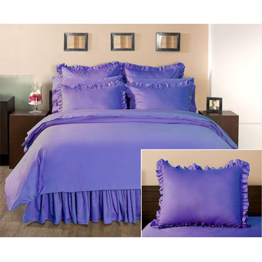 Home Decorators Collection Ruffled Lapis Lazuli Euro Sham