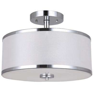 Portland Collection 2-Light Chrome Semi-Flush Mount Light