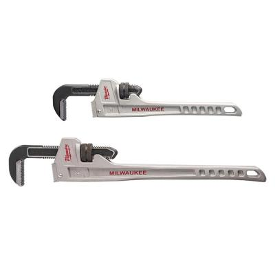 14 in. and 24 in. Aluminum Pipe Wrench Set (2-Tool)