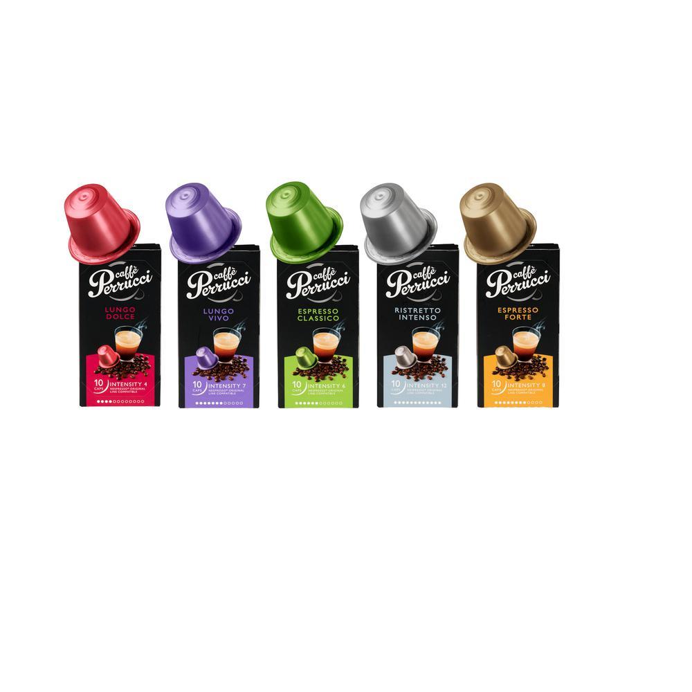 Variety Coffee Caffeinated Capsules 6-10's Espresso-Forte-Espresso Classico-Lungo Vivi-Lungo Dolce-Ristretto Intenso
