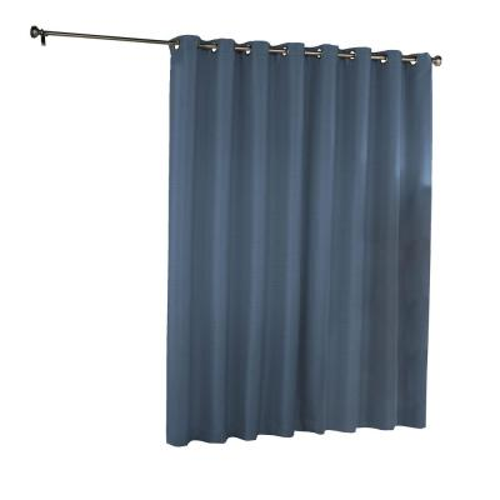 Bryson Blackout Patio Door Window Panel in Indigo - 100 in. W x 84 in. L