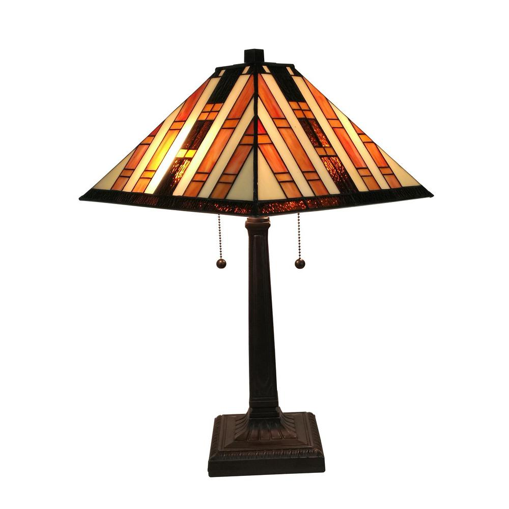Incroyable Multicolored Tiffany Style Mission Table Lamp