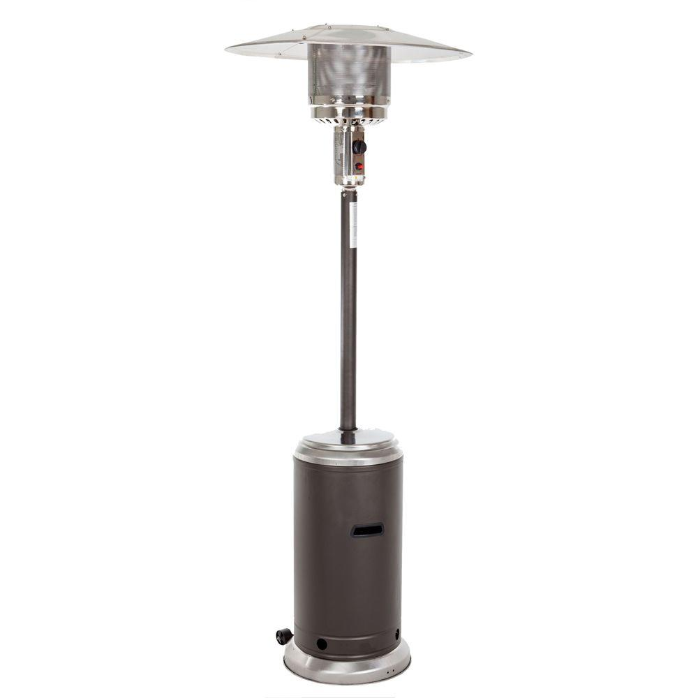 Fire Sense Standard Series 44,000 BTU Mocha and Stainless Steel Propane Gas Patio Heater